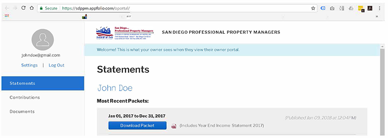 Property Management San Diego | Owner Portal Graphic